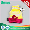 A bird yellow knitted hot water bag cover