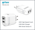 Best quality Europe AC charger for cell phone and iPad tablet