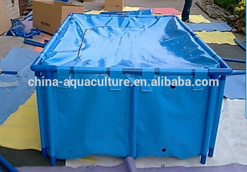 Flexible folding koi fish tank with cover koi show display for Koi tank size