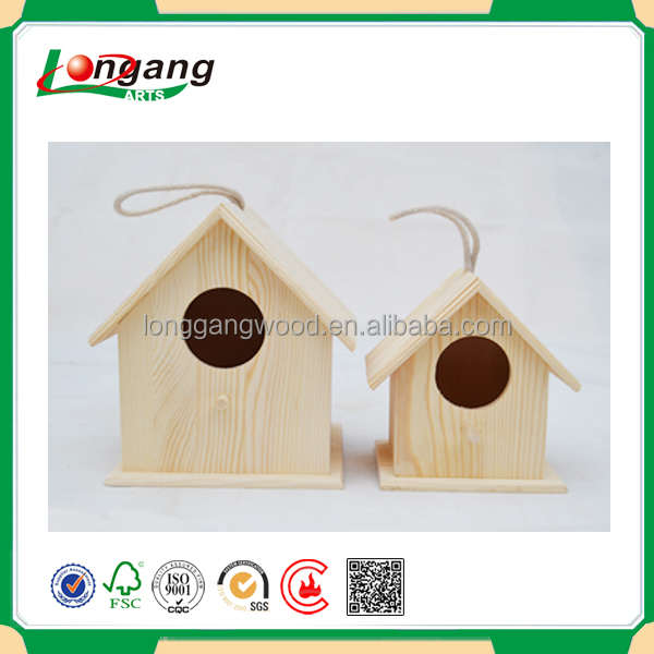 Top grade best price high quality handmade wooden bird hose/pet house/decorated wooden bird house