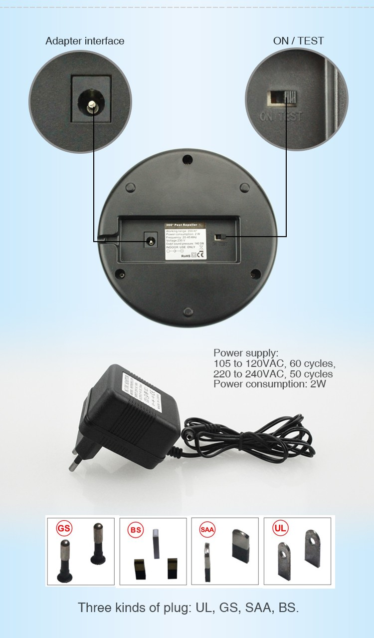 Aosion effective housely used mouse rat repeller