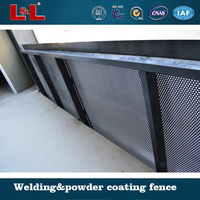 Balustrade perforated screen
