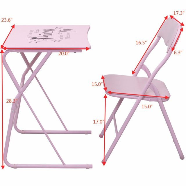 online shop goplus kids folding table chair set modern pink wood