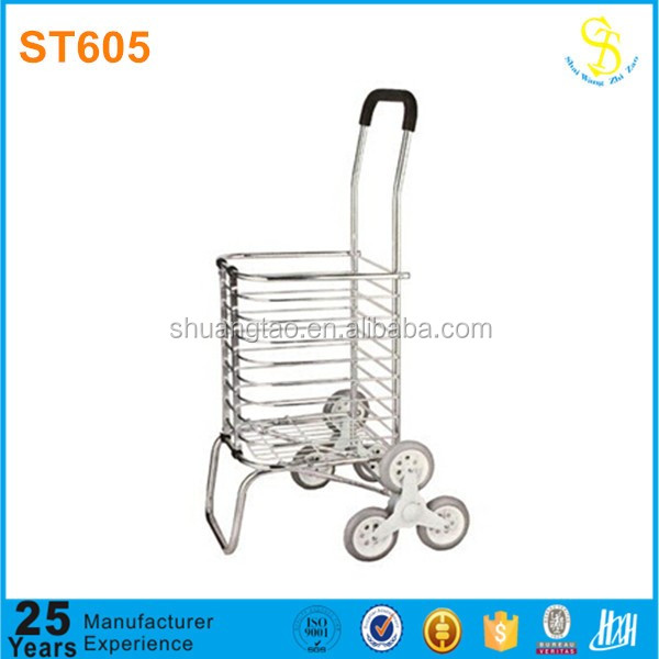 2015 Alibaba factory price foldable climbstairs grocery supermarket hand cart travel bag with wheel shopping trolley for elderly