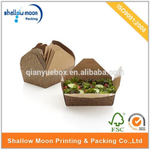 high quality custom disposable biodegradable food box