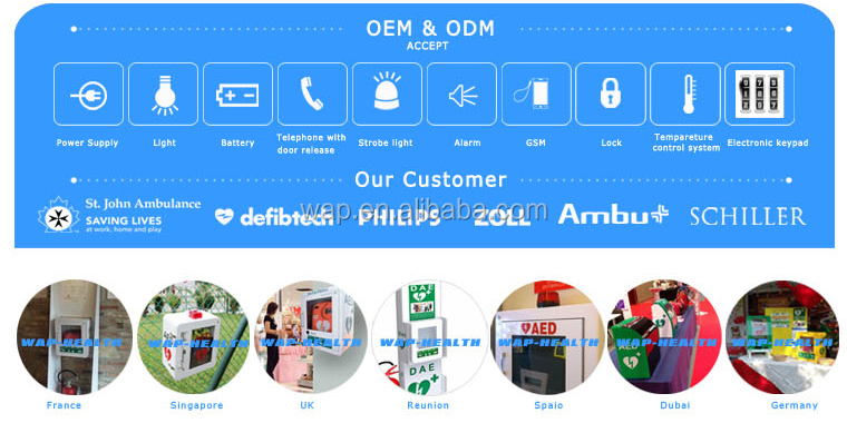 Trade Assurance WAP-health promotional factory direct sale aed with two year warranty