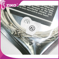 high grade silver acoustic extra light guitar strings