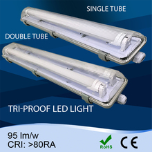 T8 IP65 Fluorescent /LED Llight Fitting 1*18W /2*18w ,LED tri-proof light warehouse CE & ROHS