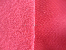 Anti-static polyester brushed velvet fabric 75DX75D 220GSM for sportwear from China gold manufacturer