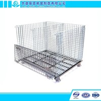 China Direct Sale Warehouse Steel Wire Mesh Container for Storage
