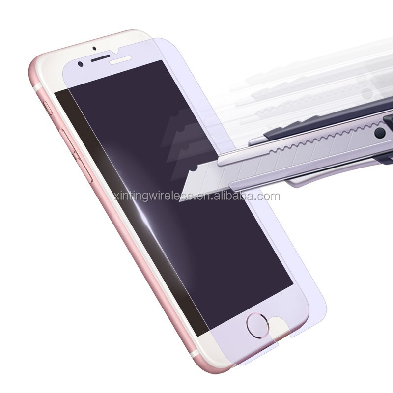 Anti blue-ray anti-scratch 0.33mm 2.5D and 9H tempered glasses for iphone7