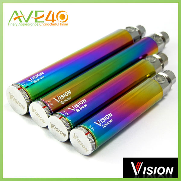 water vapor cigarettes clearly marked voltage setting 1300mah vision rainbow spinner