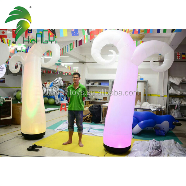 Newly PVC Inflatable Led Light Traffic Cone , Cheap Price Inflatable Flower Shape Led Light For Decoration