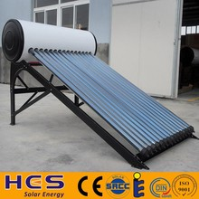 150 Liter Passive Solar Water Heater Attached Pressurized Tank Evacuated Tubes Hot