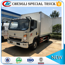 STOCK HOWO RHD 4*2 4Ton Refrigerated Box Trucks with Meat Hook