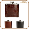 leather wrapped stainless steel hip flask holder wine holder