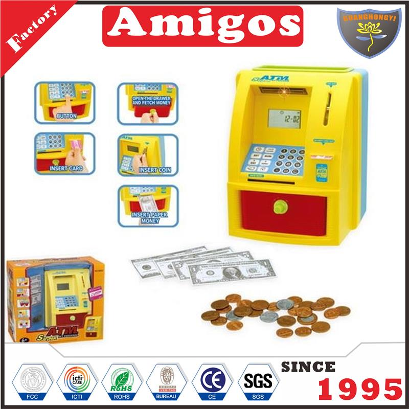 on sale Cash with sound light currencies including U.S. dollar the euro cash register toy