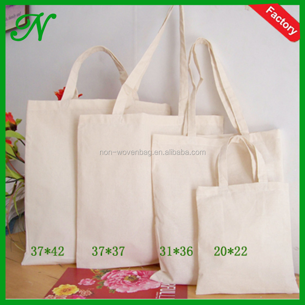 Durable natural color cotton fabric eco bag, Eco shopping bag for supermarket