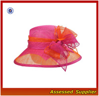 HX161/ladies dress hats wholesale/pink lady hat
