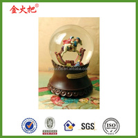 Fantasy resin cartoon toyland heirloom snowglobe for kids