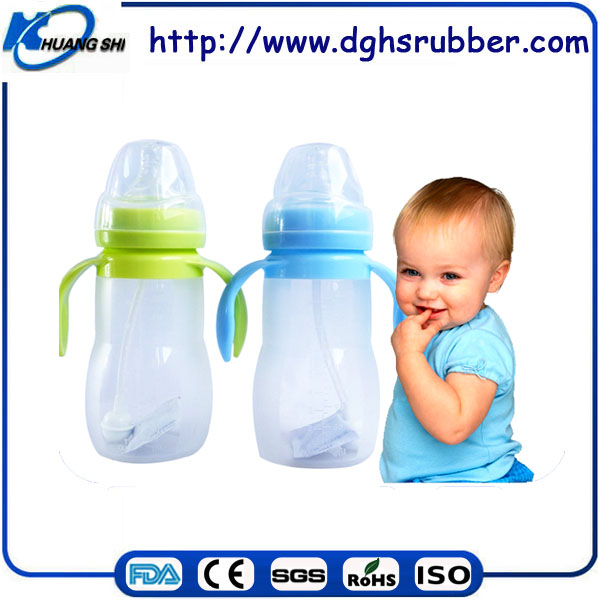 100% BPA free FDA high quality custom-made printed baby bottle