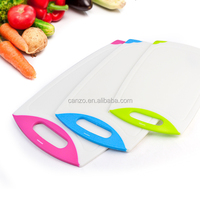 Antibacterial non slip kitchen plastic cutting board/chopping board/chopping block