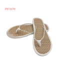 Womans Beach Beige Handcrafted Sandals Bamboo Flip Flops