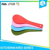 Colorful custom silicon spoon style silicone kitchenware set