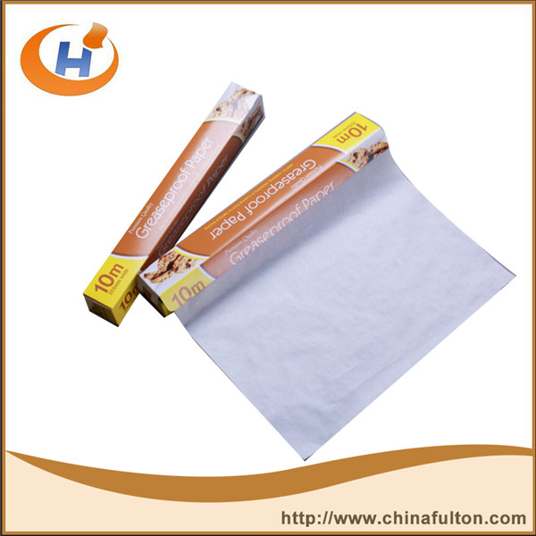 Fat and oil resistant greaseproof paper