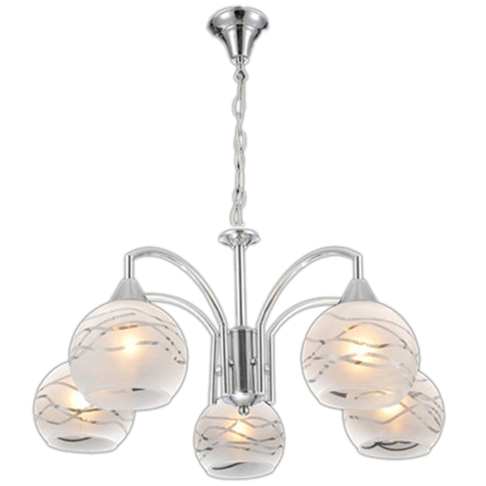 Alibaba New products Fancy Glass Shade 5 Lights Chandelier Lighting