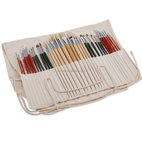 36Pcs Artists Oil Watercolor Acrylic Paint Brushes Set