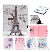 KLT OEM Customized Flower Floral Cartoon Cute Printed National Flag Tablet PC Leather PU Stand Cover Case For iPad mini 1 2 3