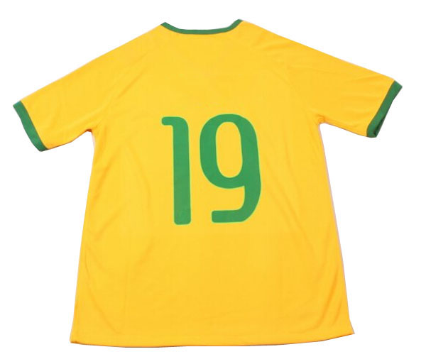 Hot team thailand quality print name and number custom brazil soccer jersey