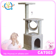 Pet Cat Tree Dark Brown Luxury Stairs Claw Grinding Cat Climbing Frame Tree Toy