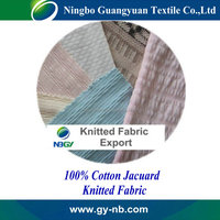 100% cotton jacquard fabric with good outlook and wearing comfortable