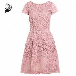 Fashion women elegant summer lace dress ladies wedding party dress