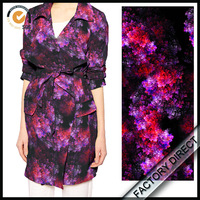 digital printed 100 cotton poplin fabric plain cloth for women garment