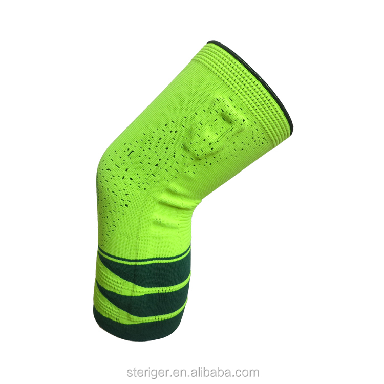 nylon and spandex silicon pad compression knee sleeves