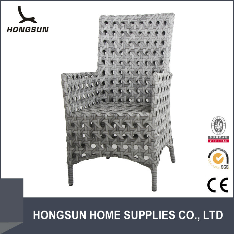 High back outdoor relax white rattan wicker chair