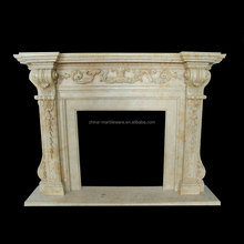 Decoration marble carving smart ethanol fireplace burner