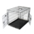 manufacturer two doors folding black iron dog crate metal tray UK market