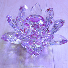 Glitta Crystal Craft Glass Lotus For Religious Gift, Crystal Lotus For Home Decoration