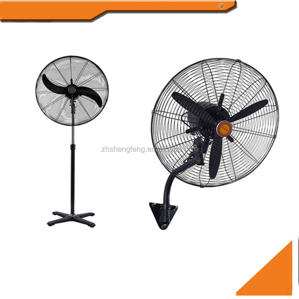 "26"" 30"" inch 2 in 1 industrial stand fan and wall fan"