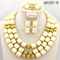 newest competitive price african beads jewelry set for nigerian wedding