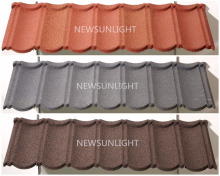 Color sand chips metal coated roof