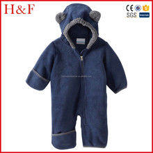 Toddler girl clothing hooded zip jumpsuit fleece lined coverall for winter
