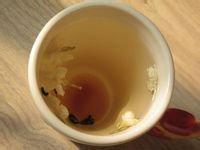 Jasmine tea. dried jasmine flower