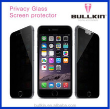 perfect bullkin anti-spy privacy tempered screen protector for iphone 6 ,9H GLASS screen protector film privacy