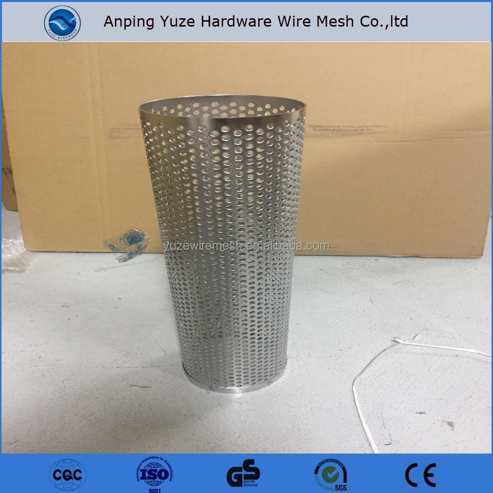 Best Price Stainless Steel Filter Wire Mesh Screen Tube / Round Hole Perforated Metal Cylinders