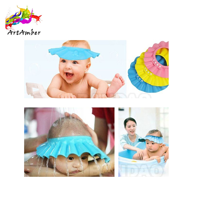 Baby bathroom products child bath visor shower cap for toddler